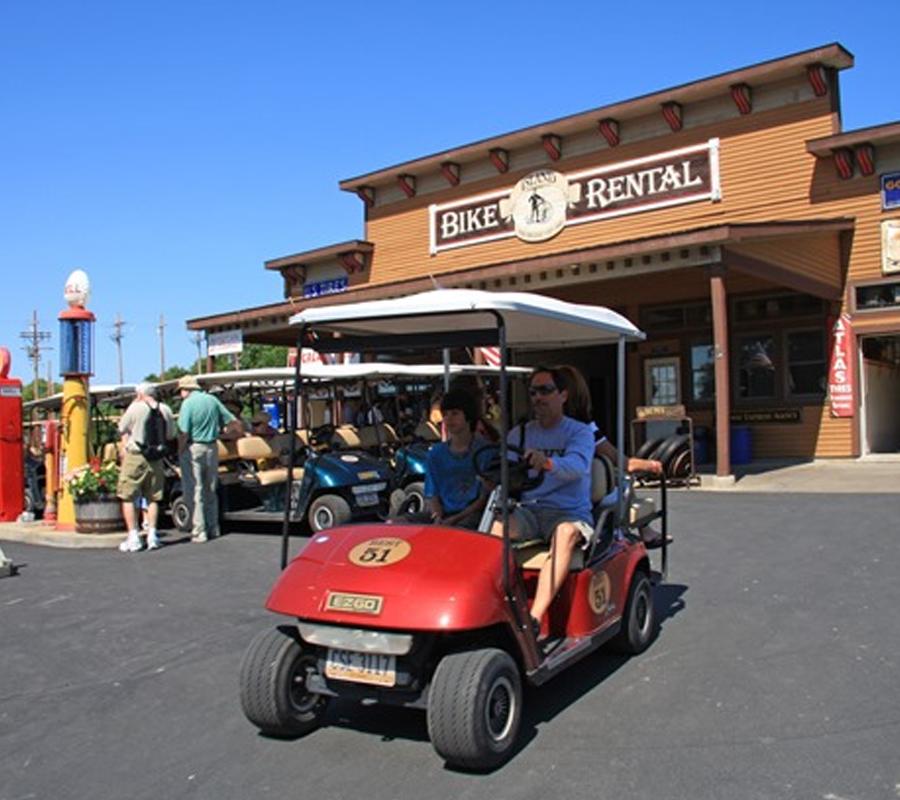 Put-in-Bay island bike and cart rental
