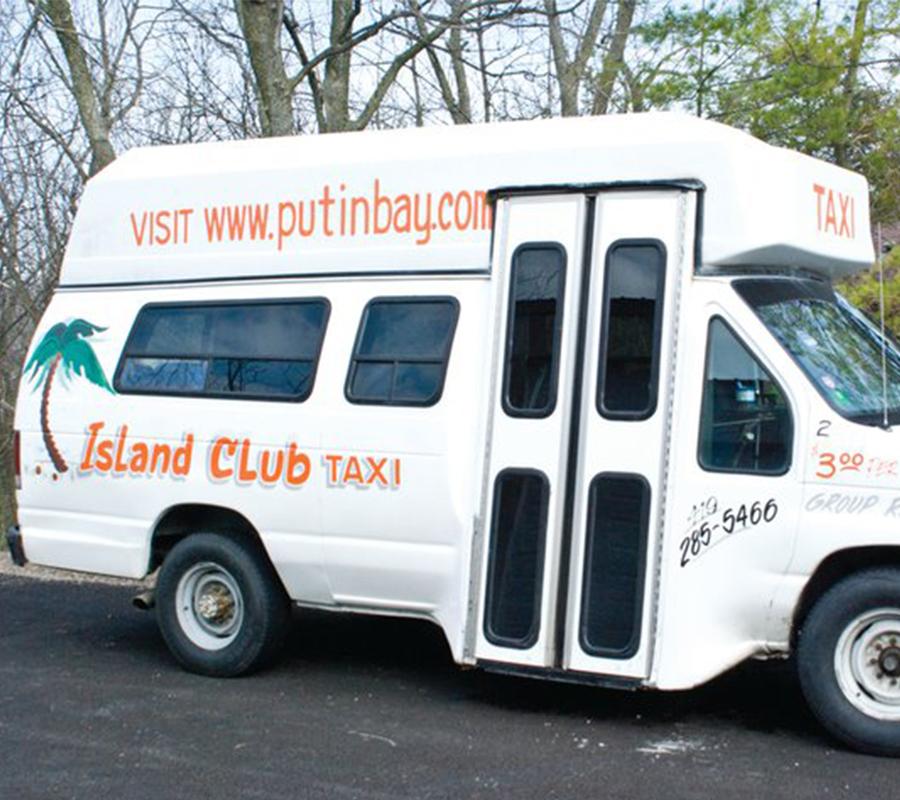 Put-in-Bay island club taxi put in bay